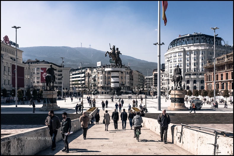 Skopje Macedonia by Dawid Markoff